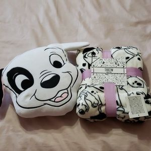 101 Dalmations pillow and throw set